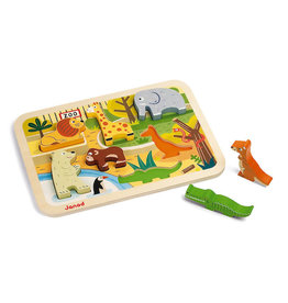 Juratoys Group (Janod) janod wooden chunky puzzle - zoo