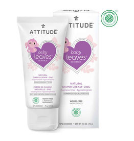 Attitude attitude baby leaves diaper zinc cream - fragrance free 75 g