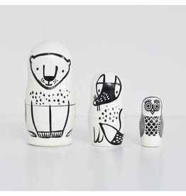 Wee Gallery wee gallery nesting dolls - forest friends