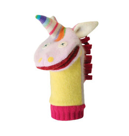 Cate & Levi cate & levi wool animal puppet - unicorn