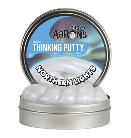 Crazy Aaron Enterprises Inc. crazy aaron thinking putty northern lights cosmic - 4 inch with UV charger
