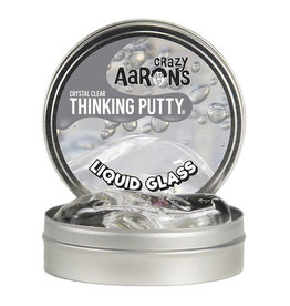 "Crazy Aaron Enterprises Inc. crazy aaron's thinking putty crystal clears - liquid glass large 4"" tin"