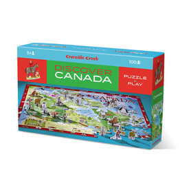 Crocodile Creek crocodile creek 100 piece discover + play puzzle - canada