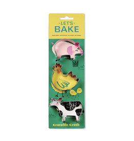 Crocodile Creek crocodile creek let's bake barnyard cookie cutter set