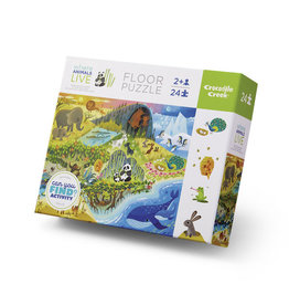 Crocodile Creek crocodile creek 24 piece early learning floor puzzle - where animals live