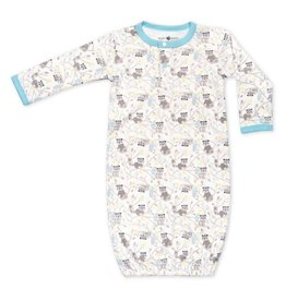 Apple Park apple park organic layette raccoon boy sleep gown