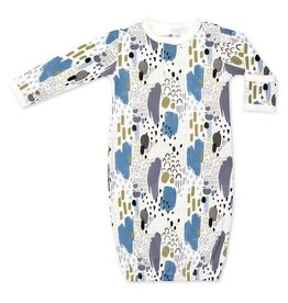 Apple Park apple park organic layette abstract dusk sleep gown