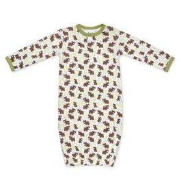 Apple Park apple park organic layette snow bear sleep gown