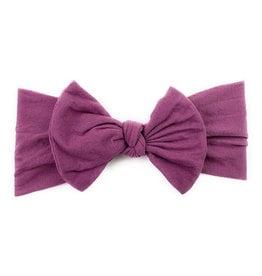 Baby Wisp baby wisp nylon bow infant headband - midnight mauve