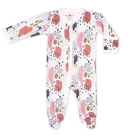 Apple Park apple park organic layette abstract dawn footie