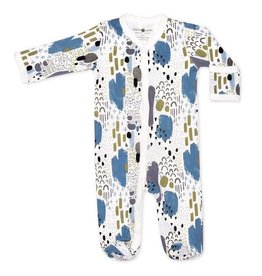 Apple Park apple park organic layette abstract dusk footie
