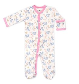 Apple Park apple park organic layette arctic fox girl footie