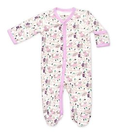 Apple Park apple park organic layette raccoon girl footie