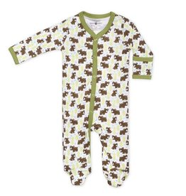 Apple Park apple park organic layette snow bear footie