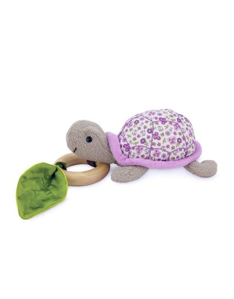Apple Park apple park organic crawling turtle teething toy purple