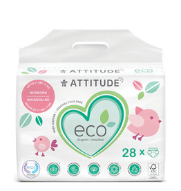 Attitude attitude biodegradable newborn baby diapers 28pk