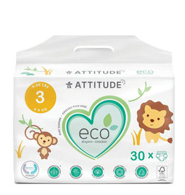Attitude attitude biodegradable size 3 baby diapers 30pk