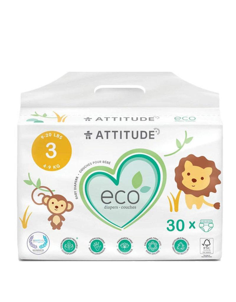 Attitude attitude biodegradable size 3 baby diapers 30pk