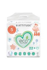 Attitude attitude biodegradable size 5 baby diapers 22pk
