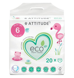 Attitude attitude biodegradable size 6 baby diapers 20pk