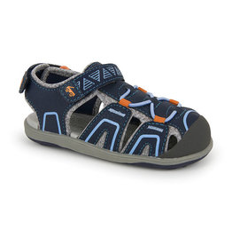 See Kai Run see kai run lincoln IV water sandal - navy + orange