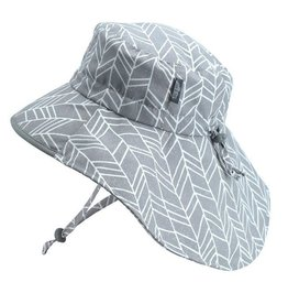 Twinklebelle jan + jul by twinklebelle aqua dry adventure sun hat - grey herringbone print