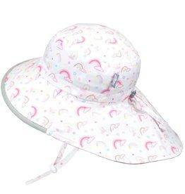 Twinklebelle jan + jul by twinklebelle cotton adventure sun hat - rainbow grey trim