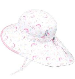 Twinklebelle jan + jul by twinklebelle cotton adventure sun hat - rainbow pink trim