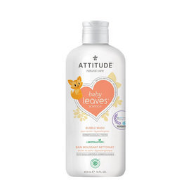 Attitude attitude baby leaves bubble wash - pear nectar 473 ml