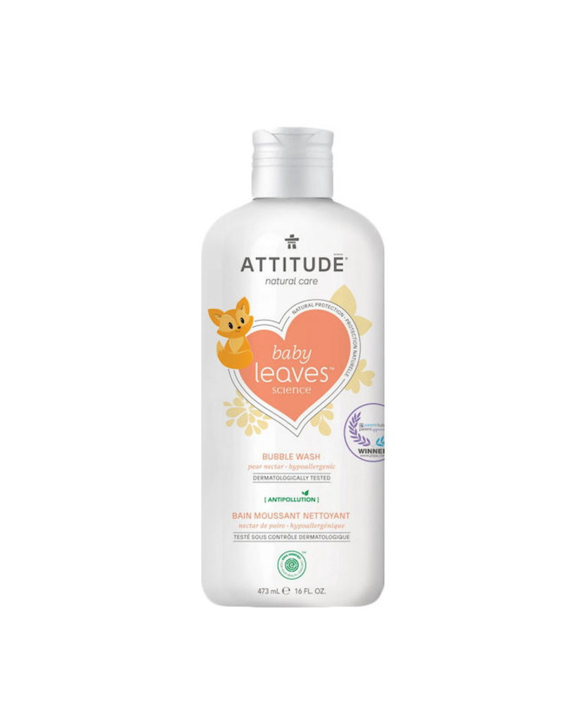 Attitude attitude baby leaves bubble wash - pear nectar 473 ml