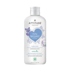 Attitude attitude baby leaves bubble wash - good night almond milk 473 ml
