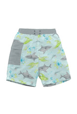 green sprouts swim diaper trunks - aqua shark sealife