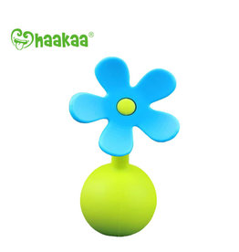 Haakaa haakaa breast pump silicone flower stopper - blue