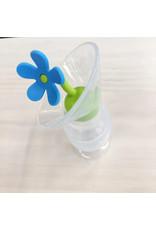 Haakaa haakaa breast pump silicone flower stopper - blue
