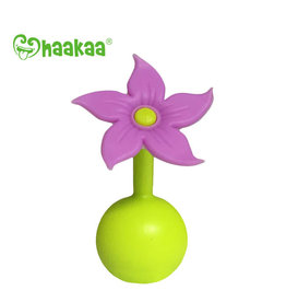 Haakaa haakaa breast pump silicone flower stopper - purple