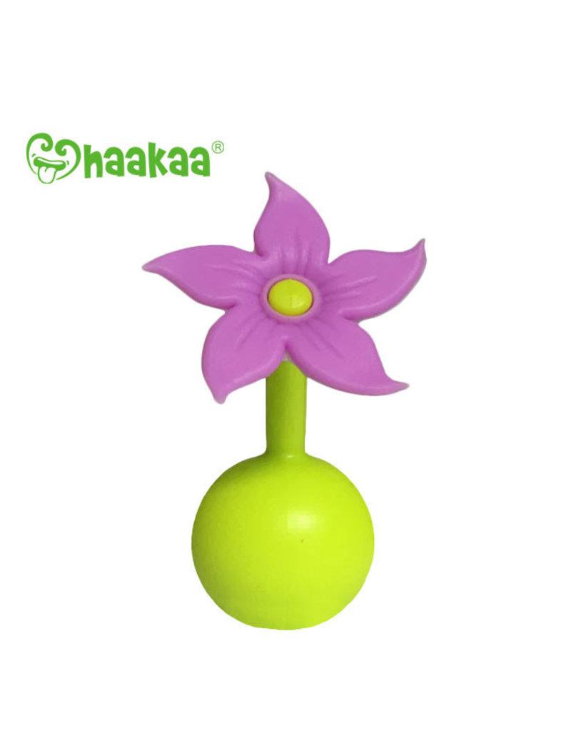 Haakaa haakaa breast pump silicone flower stopper - purple