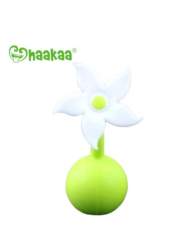 Haakaa haakaa breast pump silicone flower stopper - white
