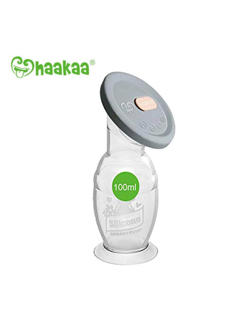 Haakaa haakaa silicone manual breast pump with lid 100ml
