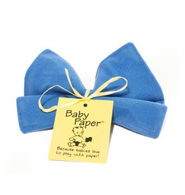 BabyPaper baby paper crinkle toy - blue