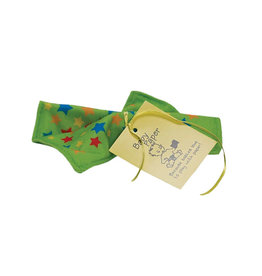 BabyPaper baby paper crinkle toy - green stars