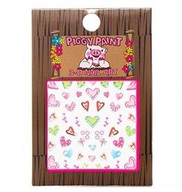Piggy Paint piggy paint 3-D heart nail art stickers