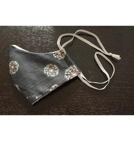 Colibri colibri dandelion cotton face mask - headband style