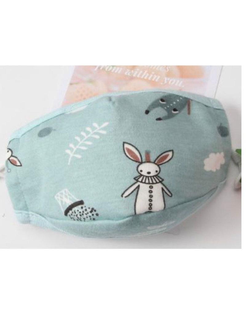Beau & Belle Littles beau + belle littles child face mask 3-5 years - bunnies