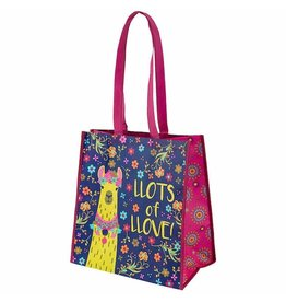 Karma karma recycled large gift bag - llama