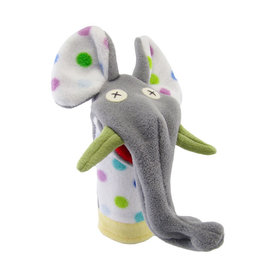 Cate & Levi cate & levi softy fleece puppet - party elephant