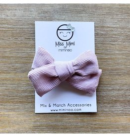 Miminoo miss mimi by miminoo mauve pink corduroy hair bow - alligator clip