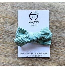 Miminoo miss mimi by miminoo sage corduroy hair bow - alligator clip