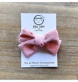 Miminoo miss mimi by miminoo baby pink corduroy hair bow - alligator clip