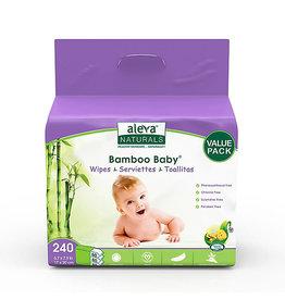 Aleva Naturals aleva naturals bamboo baby wipes 240pk