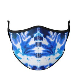 Top Trenz top trenz medium 8 years+ youth/adult mask - blue tie dye